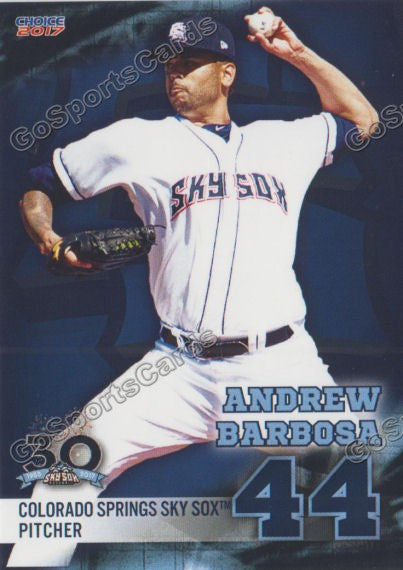 2017 Colorado Springs Sky Sox Andrew Barbosa