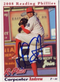 Andrew Carpenter 2008 Reading Phillies (Autograph)