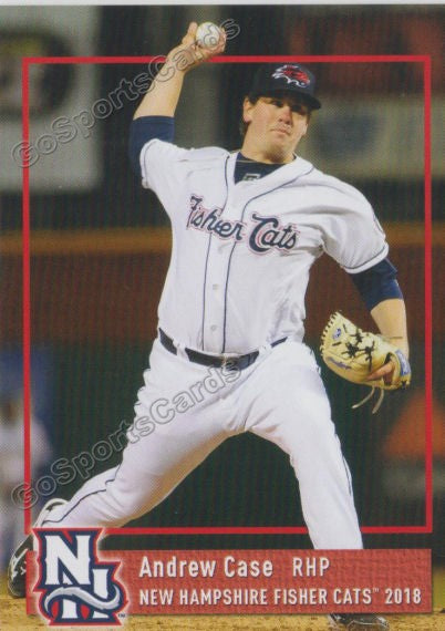 2018 New Hampshire Fisher Cats Andrew Case