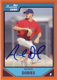 Andrew Dobies 2007 Bowman Orange /250 #BP93 (Autograph)