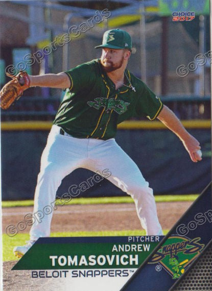 2017 Beloit Snappers Andrew Tomasovich