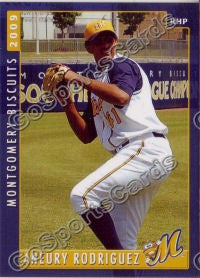 2009 Montgomery Biscuits Aneury Rodriguez