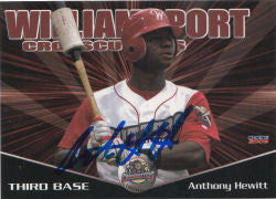 Anthony Hewitt 2009 Williamsport Crosscutters (Autograph)