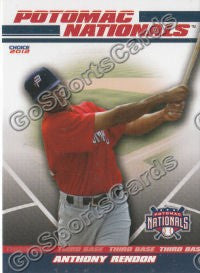 2012 Potomac Nationals Team Set