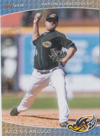 2018 Akron Rubber Ducks Argenis Angulo