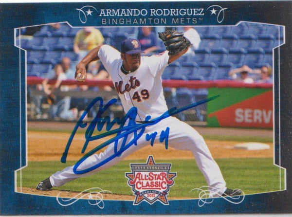 Armando Rodriguez 2012 Eastern League All Star (Autograph)