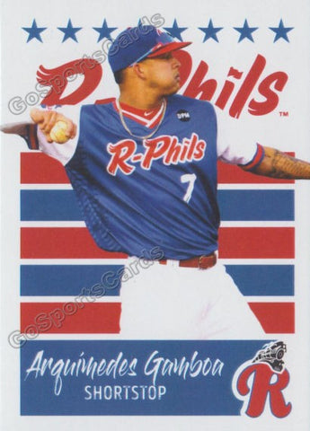 2019 Reading Fightin Phils U3 Arquimedes Gamboa