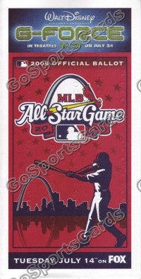 2009 MLB All Star Game Ballot St Louis Cardinals SGA