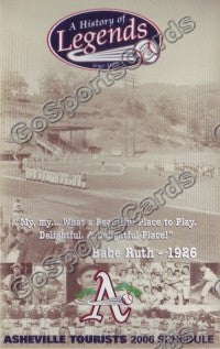 2006 Asheville Tourists Pocket Schedule