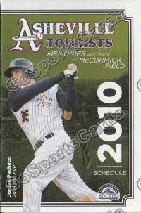 2010 Asheville Tourists Pocket Schedule