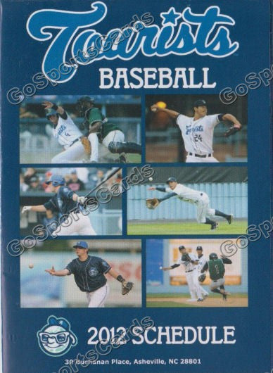 2012 Asheville Tourists Pocket Schedule