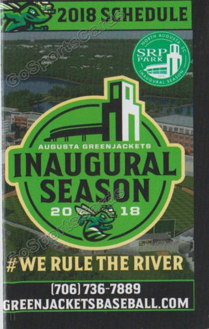 2018 Augusta GreenJackets Pocket Schedule