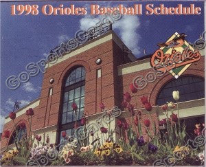 1998 Baltimore Orioles Pocket Schedule