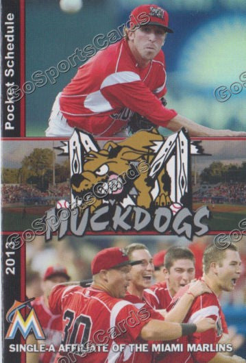 2013 Batavia Muckdogs Pocket Schedule (Corey Baker)