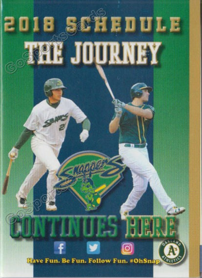 2018 Beloit Snappers Pocket Schedule