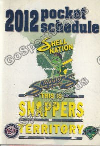 2012 Beloit Snappers Pocket Schedule