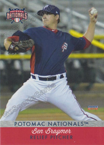 2018 Potomac Nationals Ben Braymer