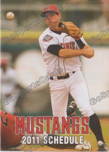 2011 Billings Mustangs Pocket Schedule Devin Lohman
