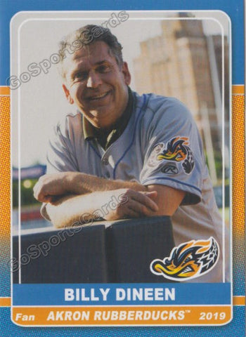 2019 Akron Rubber Ducks Billy Dineen