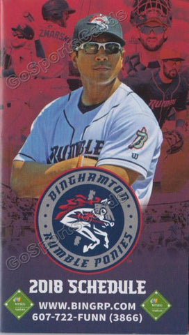 2018 Binghamton Rumble Ponies Pocket Schedule (Luis Rojas)