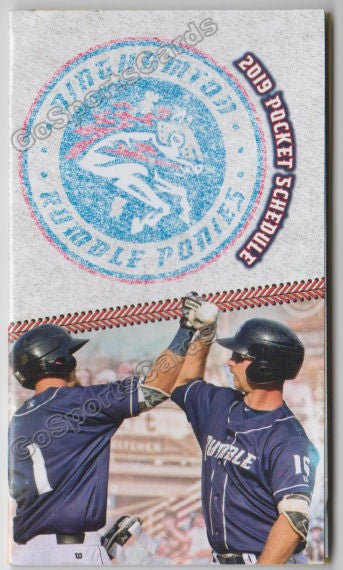 2019 Binghamton Rumble Ponies Pocket Schedule (Pete Alonso)
