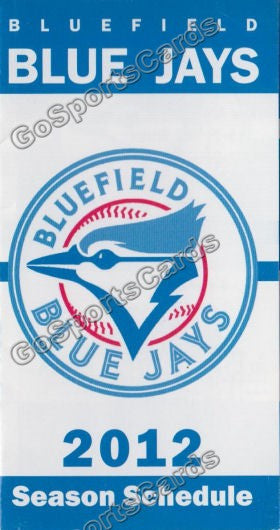 2012 Bluefield Blue Jays Pocket Schedule