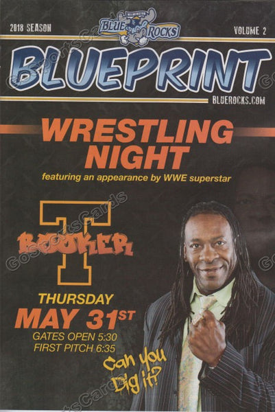 2018 Wilmington Blue Rocks Program Volume 2 (Booker T - WWE)
