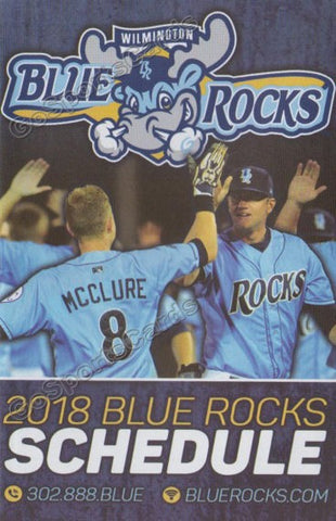 2018 Wilmington Blue Rocks Pocket Schedule