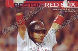 2008 Boston Red Sox Ramirez Pocket Schedule