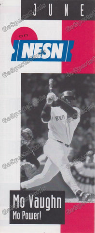 1998 Boston Red Sox NESN Pocket Schedule Flyer June (Mo Vaughn, Flat)