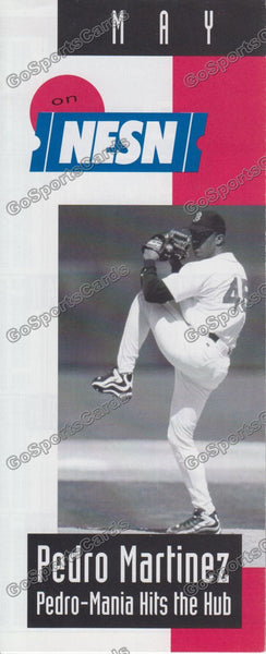 1998 Boston Red Sox NESN Pocket Schedule Flyer May (Pedro Martinez, Flat)
