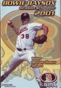 2001 Bowie Baysox Pocket Schedule