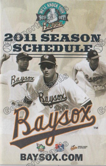 2011 Bowie Baysox Pocket Schedule