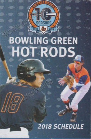 2018 Bowling Green Hot Rods Pocket Schedule (Josh Lowe)