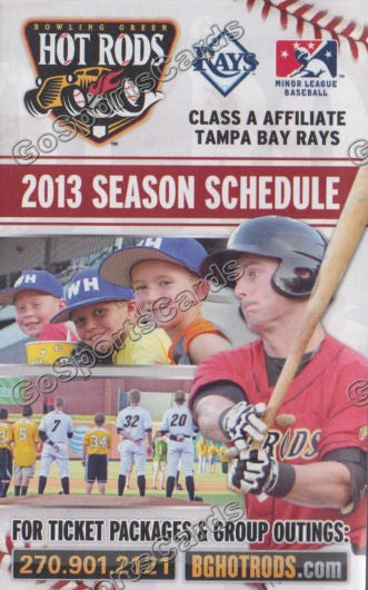 2013 Bowling Green Hot Rods Pocket Schedule