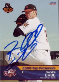 Brandon Erbe 2009 Carolina League Top Prospect (Autograph)