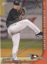 2011 Delmarva Shorebirds Brandon Holloway