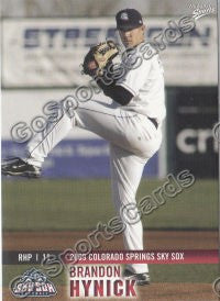 2009 Colorado Springs Sky Sox Brandon Hynick