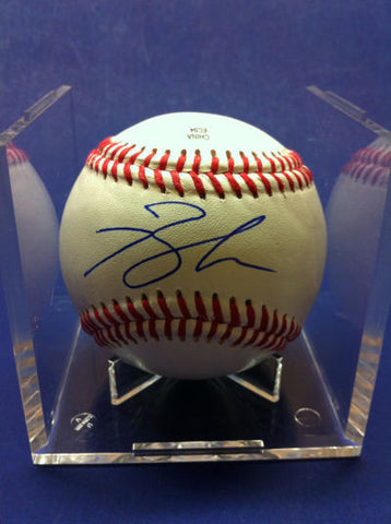 Brandon Jacobs Signed Baseball Auto