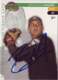 Brandon Magee 2008 New Hampshire Fisher Cats (Autograph)