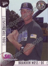 2004 South Atlantic League SAL Top Prospects Brandon Moss
