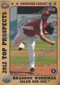 2012 Carolina League Top Prospects Brandon Workman