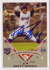 Brett Bordes 2007 Hawaii Winter League Honolulu Sharks (Autograph)