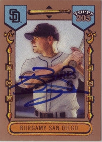 Brian Burgamy 2003 Topps 205 #138 (Autograph)