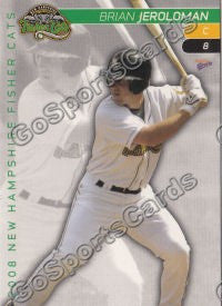 2008 New Hampshire Fisher Cats Brian Jeroloman