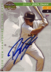Brian Jeroloman 2008 New Hampshire Fisher Cats (Autograph)