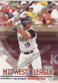 2004 Midwest League Top Prospects Brian Snyder