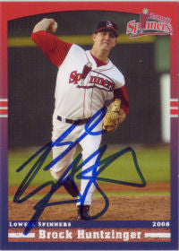 Brock Huntzinger 2008 Lowell Spinners (Autograph)