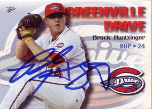 Brock Huntzinger 2009 Greenville Drive (Autograph)