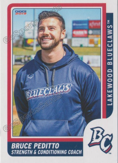 2019 Lakewood BlueClaws Bruce Peditto